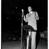 Billy Graham addressing rally at American Legion Stadium, 1951