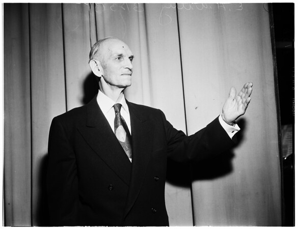 Bandmaster, 73 years old, of Palo Alto, 1952