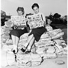 Dana Junior High School paper drive, 1952