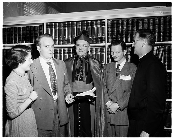 Catholic students conference at Loyola [High School], 1952