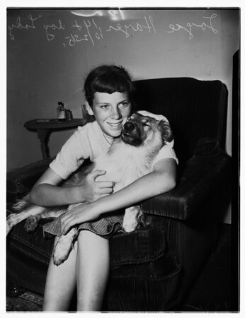 Runaway girl...for love of her dog, 1951