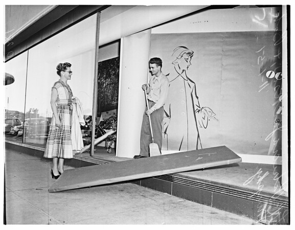 Atomic Blast Damage to Sears Las Vegas, 1951