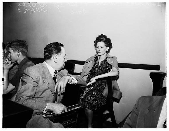 Lorraine Moreno murder preliminary hearing ...Van Nuys Municipal Court, Division 132, 1952