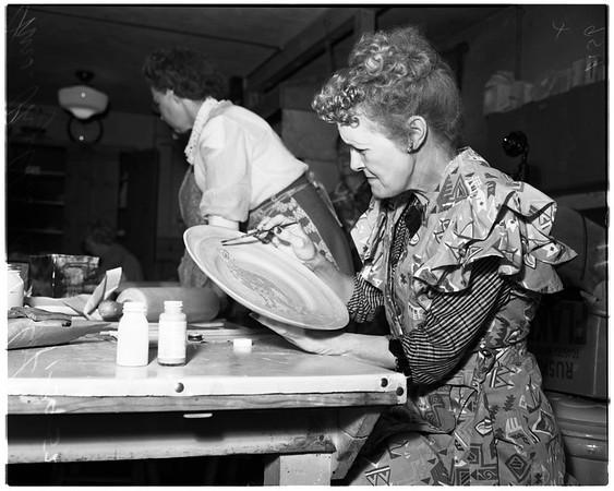 Ceramics class at Barnsdall Park, 1952