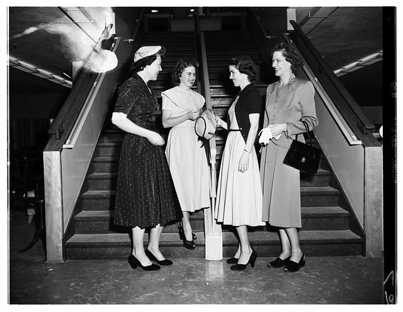 Fashion show at Ontario's Newcomers' Club ...San Gabriel Valley, 1952