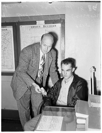 Counterfeiter at University Station...Jefferson Boulevard, 1952