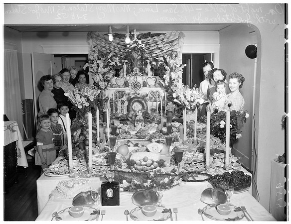Saint Joseph's table, 1952
