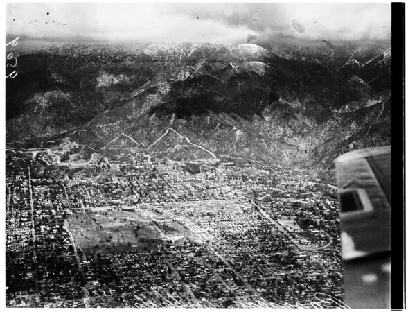 Snow seen from plane, 1952