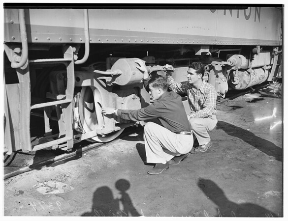 Blind Youths at Union Pacific Rail Road Company Depot, 1951