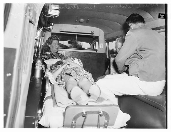 Traffic Accident, Hazeltine Avenue and Parthenia Street, Van Nuys, 1951