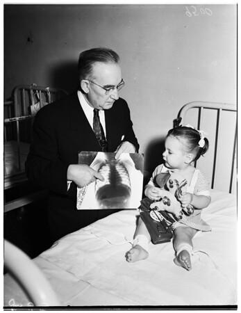 Stero-fluoroscopic operation, 1952