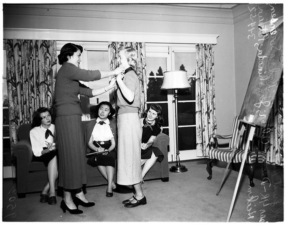 (YWCA) Young Women's Christian Association orchid sale, 1952