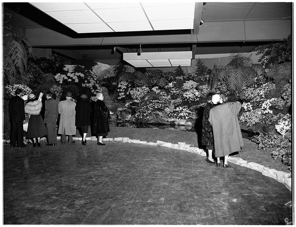 Opening of flower show, 1952