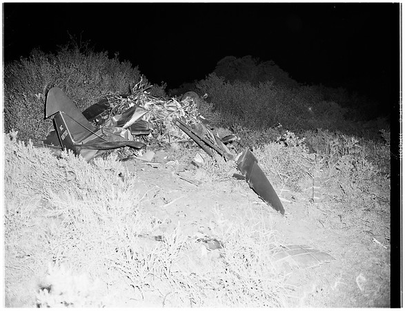 Mercy plane found crashed (Carbon Canyon, Brea Hills), 1952
