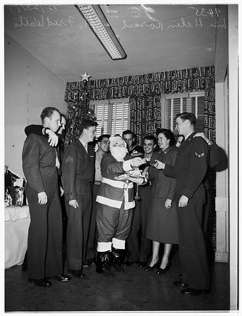 Christmas Party at United Service Organizations Catholic Center, 1951