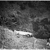 Car over ravine ...Barham Boulevard just above Forest Lawn Drive,  1952