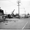 Gas main broke at 900 Riverside Drive, 1951