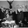 Sheriff Eugene Biscailuz 45th anniversary in office, 1952