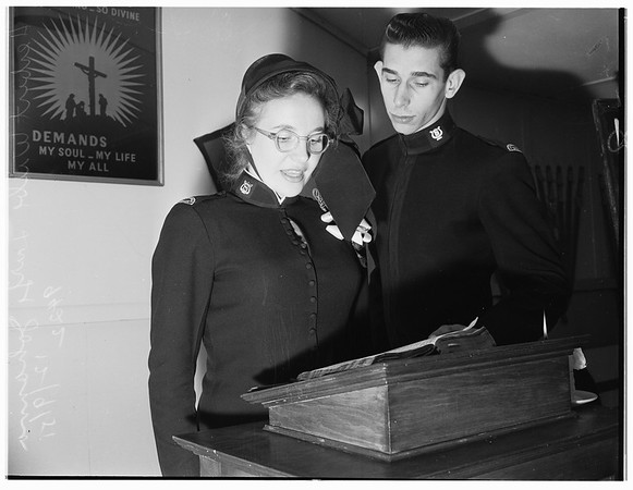 Bible Marathon...Salvation Army Tabernacle...4800 South Hoover...Young People's Legion, 1951