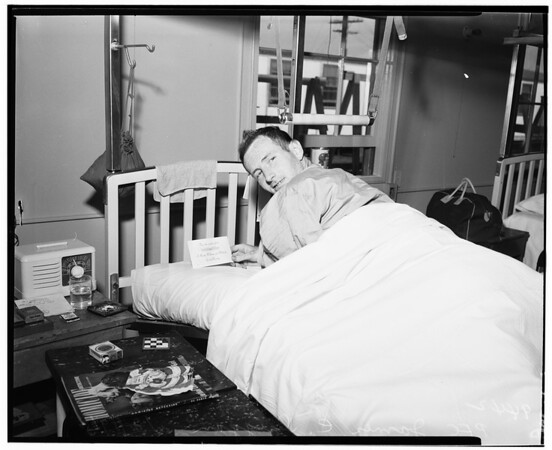 Examiner war wounded fund ...at Corona Hospital, 1951