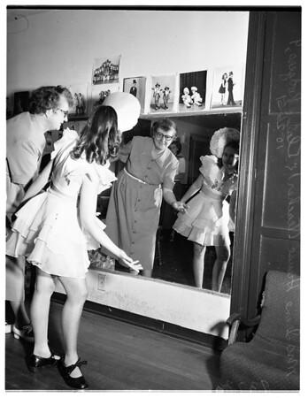 Deaf tap dancing child, 1951