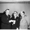 Elks Present five hundred dollars MacArthur check, 1951