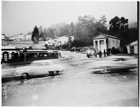 Sunset Boulevard at Sunset Plaza Drive, 1952