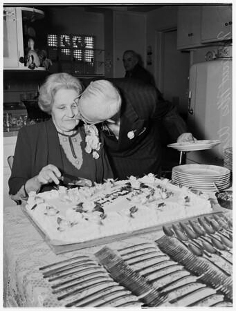 Fiftieth wedding anniversary, 1952