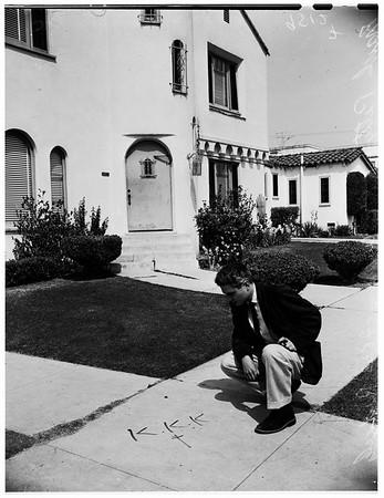 Ku Klux Klan warning (Negro house bombed), 1952