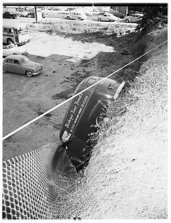 Truck over cliff, 1952.