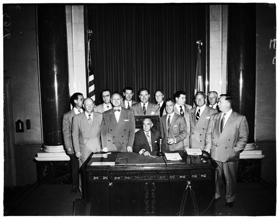 City Council members (no identification), 1952.
