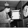 Weather Bureau...telepsychrometer, electric thermometer, 1951
