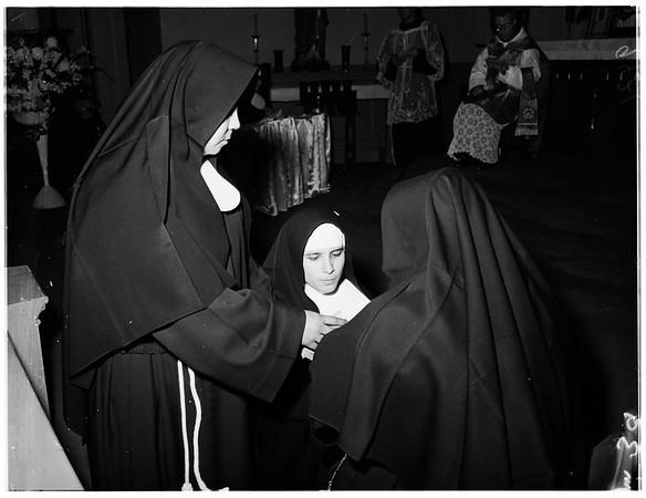 Final vows (Nuns), 1951