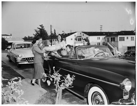 Stevens College dinner plans, 1951