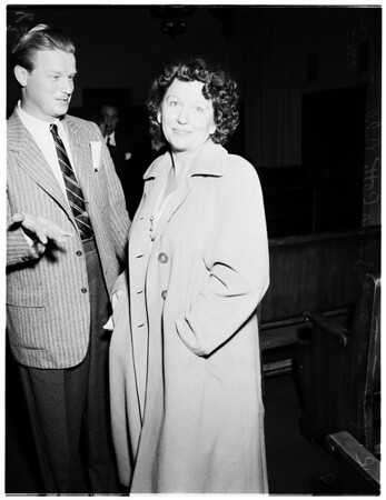 Burglary ring preliminary hearing ...Robert Lord (not in picture), mastermind of ring, 1952