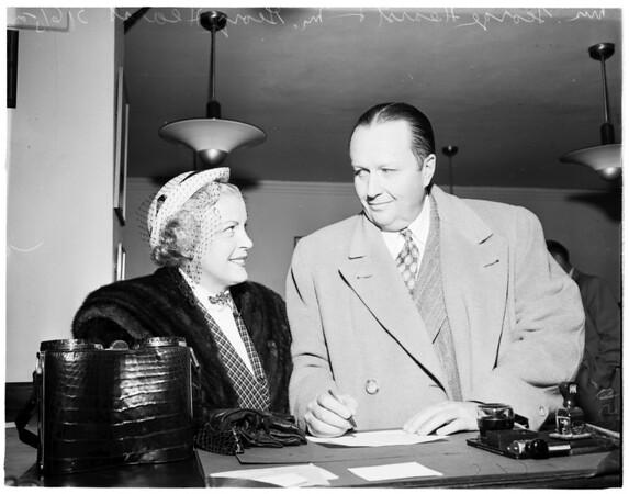 George Hearst wedding, 1952