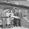 Dedication of Los Angeles County underground vault... General views of entrance and interior, 1952