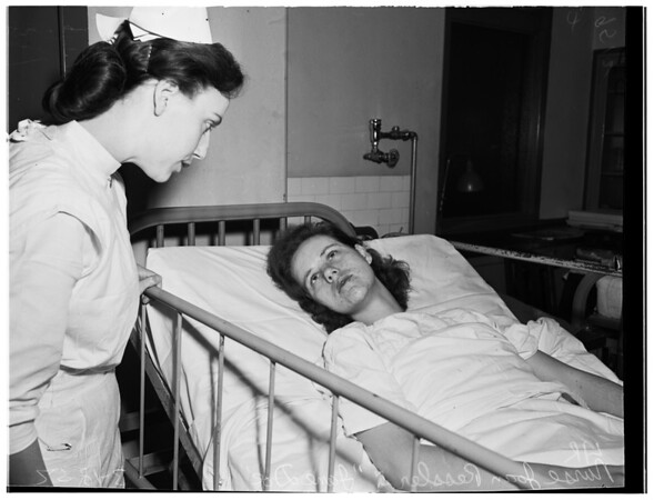 Amnesia victim at General Hospital, 1952