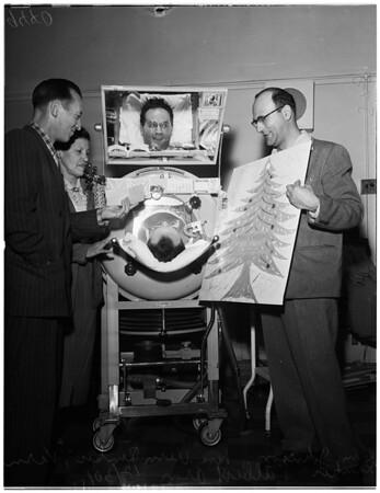 Polio victim, 1951