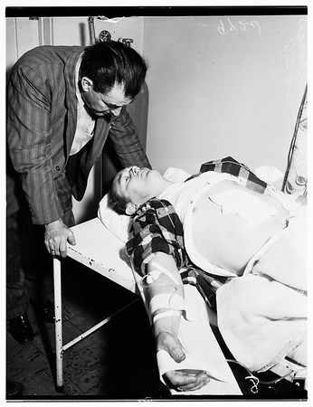 Shooting at Cafe (North Hollywood) 7456 Laurel Canyon Boulevard, 1951