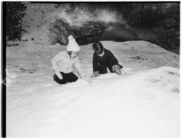 Snow at Angeles Crest Highway (Mount Waterman), 1951