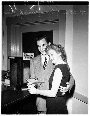 Marriage license, 1952