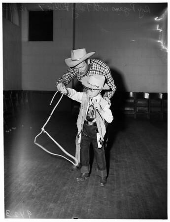 Sick boy visits Roy Rogers, 1951