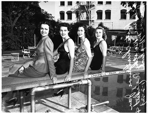Rocky Mountain beauty queens, 1952