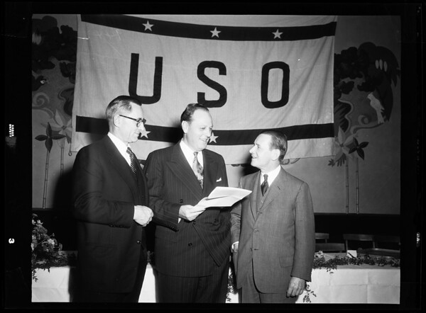 United Service Organizations executives get together, 1951