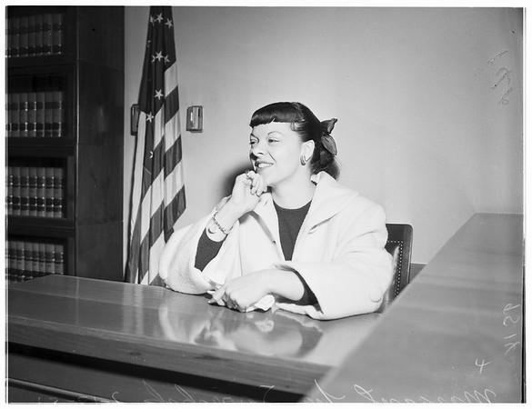Spreckles divorce, 1952