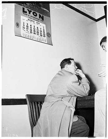 Arrested of bookmaking charges, 1952