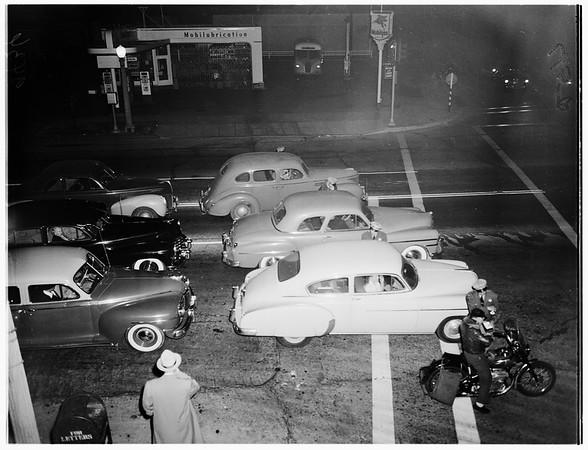 Autos -- Traffic -- Safety (Roadblock), 1951