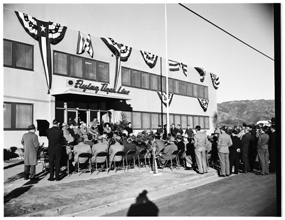 New Flying Tigers line ticket office (Lockheed Air Terminal), 1951