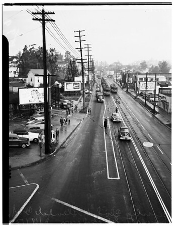 Power breakdown on Pacific Electric Lines, 1952